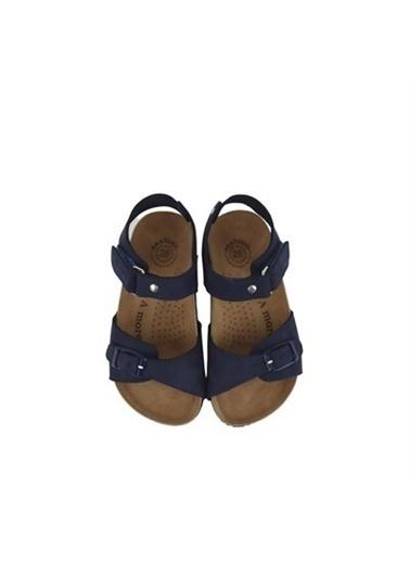 Kids A More Felix Tek Cırtlı Deri Erkek Çocuk Sandalet Lacivert Lacivert